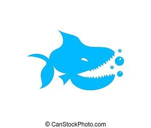 logotipo, piranha