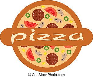 logotipo, pizza