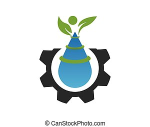 logotipo, planta, vector, template., naturaleza