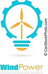 logotipo, poder vento