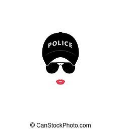 logotipo, police-girl