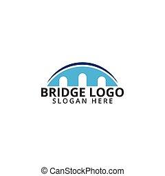 logotipo, ponte, sagoma, icona