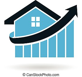 logotipo, preço, espiga, casa