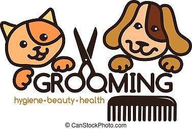 logotipo, preparación, mascotas