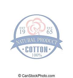 logotipo, prodotto, cotone, naturale, disegno