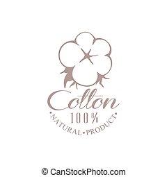 logotipo, prodotto, cotone, qualità, disegno
