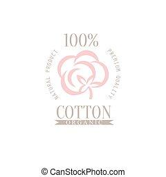 logotipo, prodotto, disegno, cotone