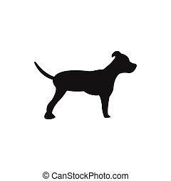 logotipo, projeto abstrato, cão, modelo