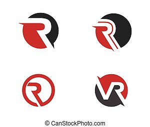 logotipo, r, letra, modelo