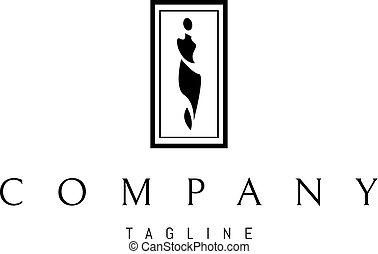 logotipo, ragazza, vettore, silhouette, immagine