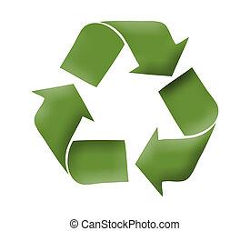 logotipo, reciclar, concepto