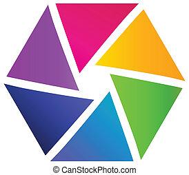 logotipo, resumen, empresa / negocio