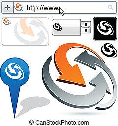 logotipo, resumen, encuadernación, empresa / negocio, design...