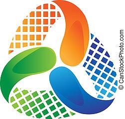 logotipo, resumen, vector, diseño, acción