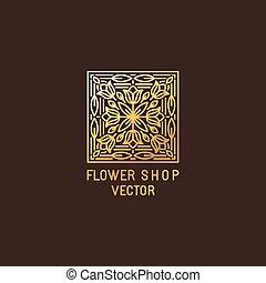 logotipo, resumen, vector, diseño, plantilla