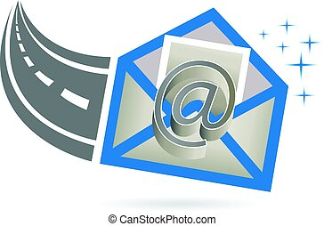 logotipo, ricevuto, email, strada, internet