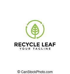 logotipo, riciclare, cerchio, disegno, sagoma, illustrazione, foglia