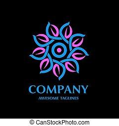logotipo, riciclare, foglia