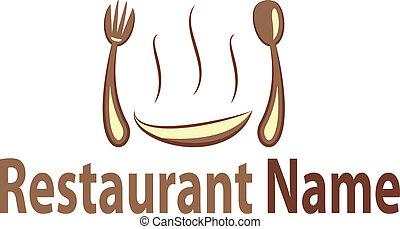 logotipo, ristorante