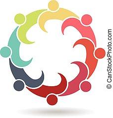 logotipo, riunione, riunione, affari, 8
