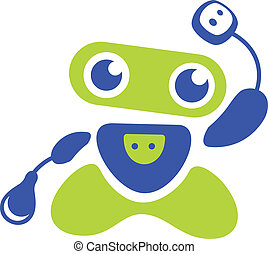 logotipo, robot
