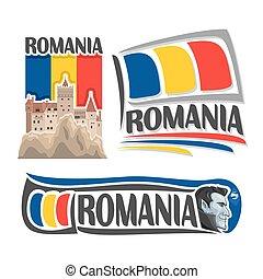 logotipo, romania, vetorial