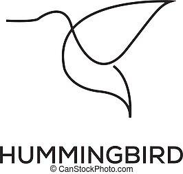 logotipo, ronzio, uccello
