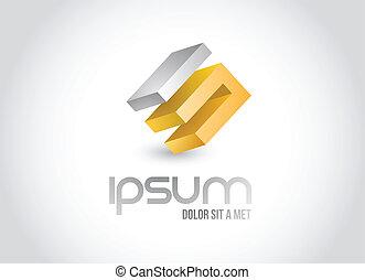 logotipo, símbolo, desenho, ilustração negócio