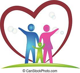 logotipo, símbolo, família