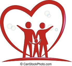 logotipo, símbolo, família, pessoas