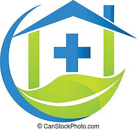 logotipo, símbolo médico, negócio, natureza