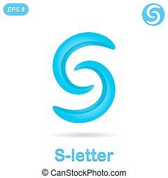 logotipo, s, concepto, carta