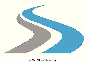 logotipo, s, letra, maneira