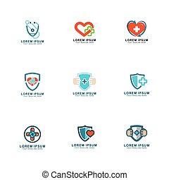 logotipo, saúde, desenho