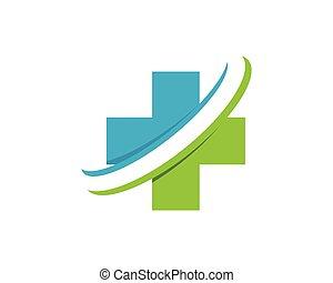 logotipo, saúde médica, gen, nuvem