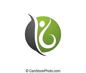 logotipo, saúde, modelo