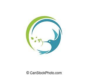 logotipo, sagoma, colibrì