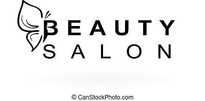 logotipo, salão, beleza