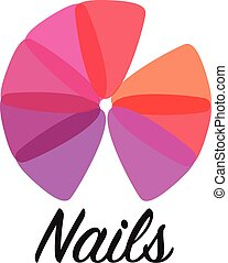 logotipo, salão, manicure