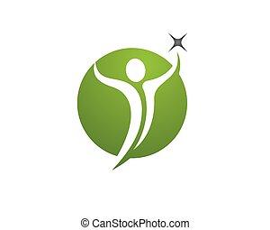 logotipo, salute