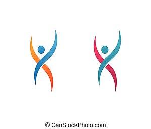 logotipo, sano, sagoma, vita