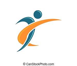 logotipo, sano, vita