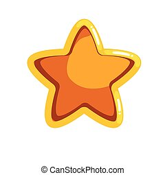 logotipo, scanalatura, cartone animato, stella