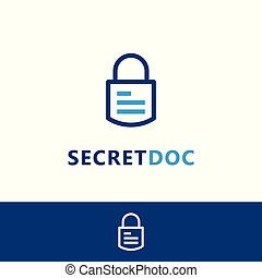 logotipo, segreto, documento, sagoma