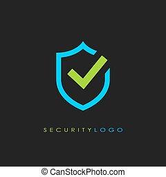 logotipo, segurança, vetorial