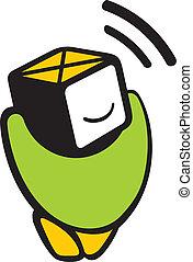 logotipo, sensor