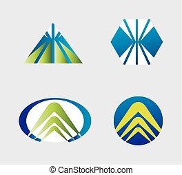 logotipo, set, affari