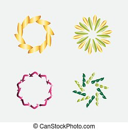 logotipo, set, sagoma, circolare