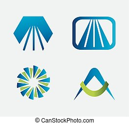 logotipo, set