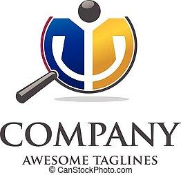 logotipo, silhouette, persone